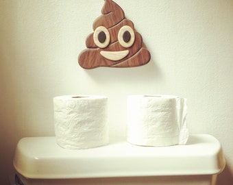 Poop Emoji Sculpture Wall Art