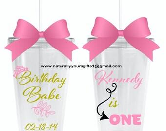 BIRTHDAY BABE Themed Dbl Walled Acrylic Tumbler