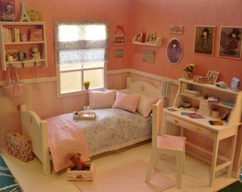 A room diorama 1:6 for pullip, blythe, momoko, barbie, licca, azone, pure neemo etc