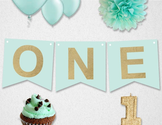 high chair banner first birthday instant download one