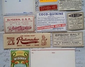 HUGE SALE One Dozen Collectible Antique Medical Drugstore Pharmacy Unused Labels | Lot No.16