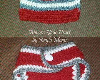 Diaper Cover & Hat Set
