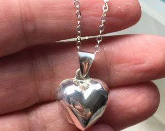 Heart Locket Necklace,  Sterling Heart Locket Necklace, Heart Locket, Picture Necklace, Locket Necklace
