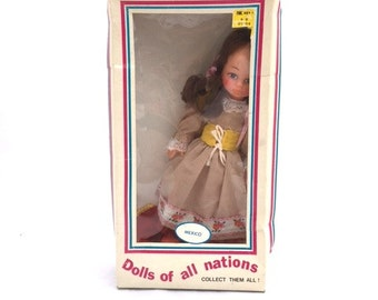 Vintage 70s DOLLS Of All Nations / MEXICO / New In Box