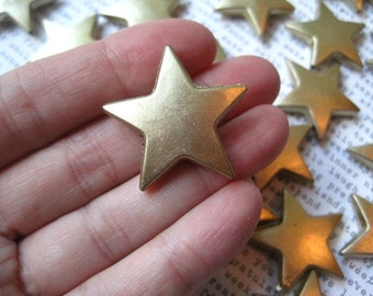 Gold Star Beads, 5 to 15 pcs Star Focal Beads, 29mm, Matte Finish, Acrylic Bead, Star Pendant, Chunky Necklace Bead, Star Gumball Bead