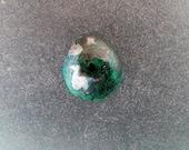 Malachite with Chalcocite freeform cabochon