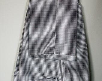 vintage brown checked polyester pants mens size 37W