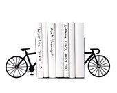 Unique Metal Bookends - My bike - shelf decor // functional modern home decor // housewarming gift / decorative book holders / FREE SHIPPING