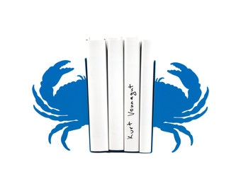 Sea Bookends -Crab light blue - unique, stylish and useful decor book holders // sea theme // FREE SHIPPING