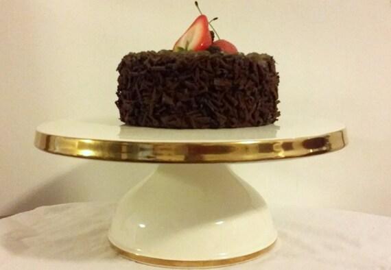 wedding cake stand vintage porcelain large cake stand gold trim