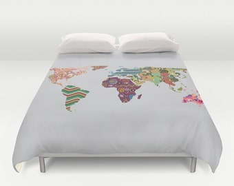 World map bedding timekeeperwatches world map bedding gumiabroncs Gallery