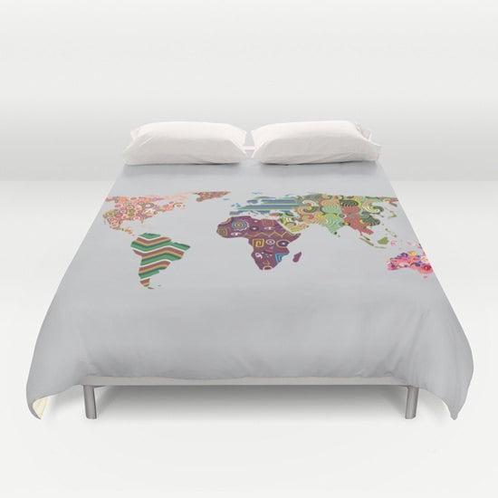World Map Bedding World Map Decor World Map Bedroom Decor