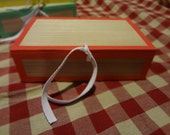 Reproduction 1800s cigar box red