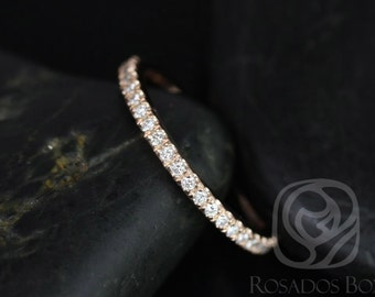 14kt Matching Band to Tabitha or Toni 9x7mm/10x7mm Diamonds HALFWAY Eternity Band (Other Metals and Stone Options Available)