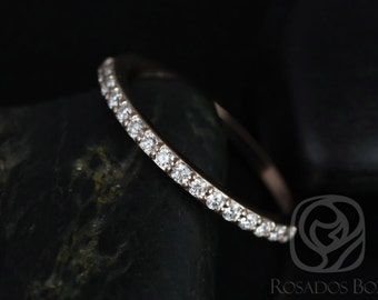 14kt Rose Gold Matching Band to ALL Taylor Diamond HALFWAY Eternity Band (Other Metals Available)