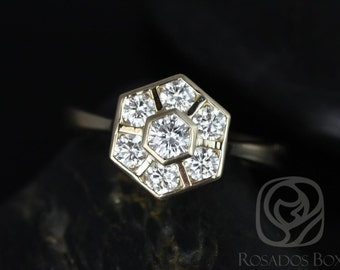 Mosaic Grande 14kt Yellow Gold Diamonds Cluster WITHOUT Milgrain  Ring (Available in other metals)