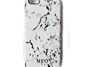 Monogram Marble print phone case