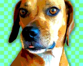 Custom Pet Portrait Pop Art- 13 x 19""
