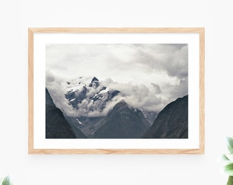 Landscape Mountain Printable Wall Art Instant Download Snow Peak Photo Contemporary Wall Art Printable Poster Digital Print Art Printable