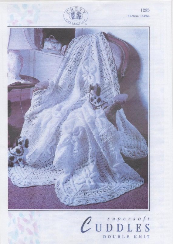 PDF Knitting pattern Shawl or Cot blanket Double by Surgewithlove