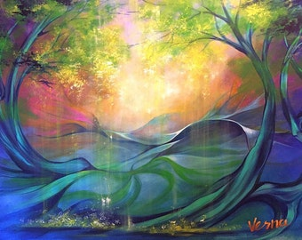 """The Beautiful Unknown - 36""""x48""""x1.5"""" Acrylic on Canvas"""