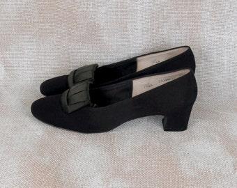 1960s shoes vintage pumps 60s shoes black heels evening shoes low