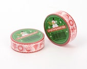 Christmas Theme DIY Scrapbbok Japanese Paper Adhesive Tape, Washi tape, Colorful, 15mm, 5m/roll