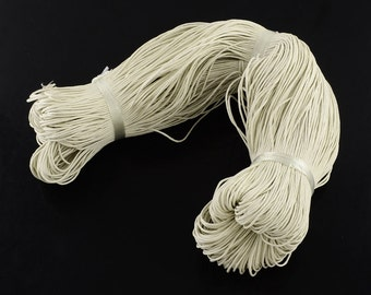 5M waxed cotton cord,antique white, 1.5mm Diameter for Bracelet/ Necklace