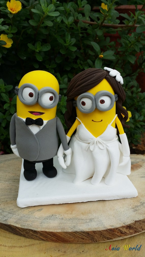Minions Wedding Cake Topper Clay Doll Minion In Suit Clay