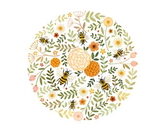 Honeybees - open edition art print