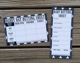 Kentucky Derby // Betting Slips - INSTANT DOWNLOAD