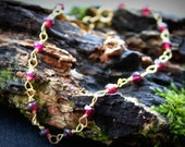 NEW Garnet Semi-precious Gemstone bracelet / MYTHICAL EARTH  for her, bridesmaid, maid of honour, hostess, mother of the bride