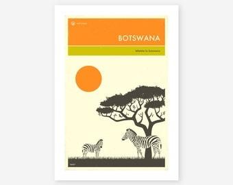 BOTSWANA TRAVEL POSTER (Giclée Fine Art Print/Photo Print/Poster Print) by Jazzberry Blue