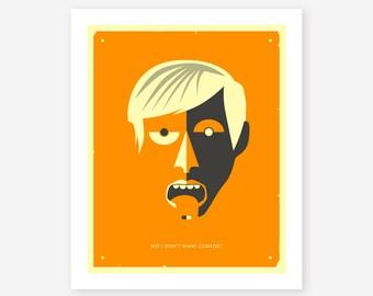 Giclée Fine Art Print, Minimal, Modern, Pop Art for your Home Decor, (orange version)