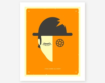 Giclée Fine Art Print, Modern, Minimal, Pop Wall Art for your home decor, 'I Was Cured All Right'