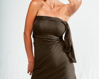 30% OFF SALE-Multi Tie Dress-Womens clothing-wrap dress-convertible dress-womens dress-turquoise dress-womens skirt-yoga dress-bohemian