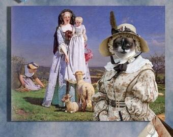 Snowshoe Cat Fine Art Canvas Print