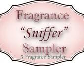 "Fragrance SAMPLER - Choose up to 5 different fragrances to ""sniff"""