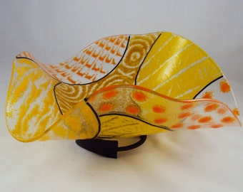 yellow wave bowl/sculpture