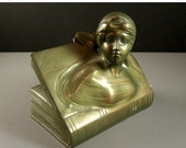ON SALE Jennings Brothers Bookend // BEATRICE // 1920s Art Deco Period // Signed // from Successionary