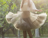 tulle skirt  tutu skirt lolita skirt maxi skirt chiffon skirt wedding skirt princess skirt short tulle skirt in clor gray
