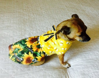 Dog Dress, Small Dog Dress, Toy Dog Dress, Teacup Dog Dress, Custom to Fit, Dog Clothes, Dog Clothing, Chihuahua Dress, Yorkie Dress