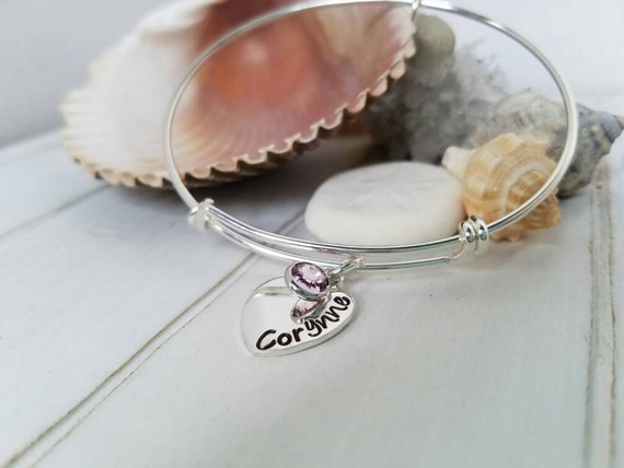 Adjustable Bangle Bracelet, Sterling Silver Bangle Bracelet, Expandable Bracelet, Custom Made Charm Bracelet, Personalized Adjustable Bangle