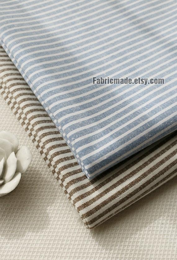 Tissu rayures de teinture de fil denim bleu par fabricmade - Teinture tissu coton ...