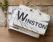 Wooden Name Sign - Rustic Wood Sign - Family Name Sign -