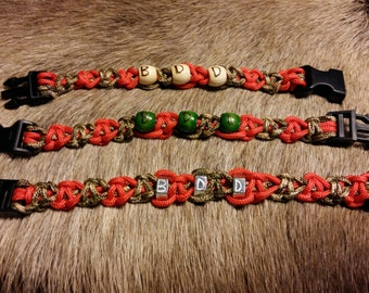 Paracord I.D. Bracelet/Personalized Paracord Bracelet/Memorial Bracelet~Native Made