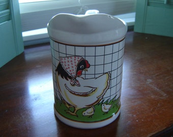 Vintage kitchen measuring pitcher chicken decor new old stock cooking gift utensil holder cottage chic farmhouse