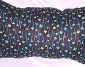 Green and Black Shamrock St Patricks Day Decorative Pillow