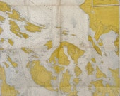 Vintage San Juan Islands Nautical Chart