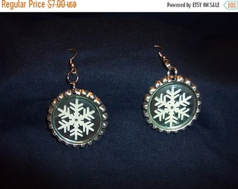 Everything Must Go First Snow Pop Cap Earrings